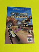 STAR WARS EPISODE 1 RACER - Instruction Booklet Manual Original Nintendo N64