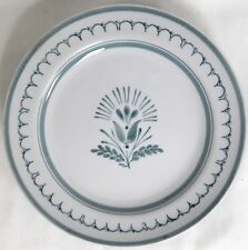 """ARABIA GREEN THISTLE GREEN HAND PAINTED FLOWER DESIGN FINLAND 8 5/8"""" SALAD PLATE"""