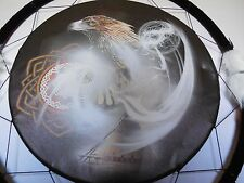 """DREAM CATCHER EAGLES 24"""" FEATHERS WESTERN HOME WALL DECOR NEW LARGE HANDMADE"""