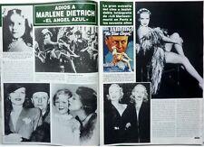 MARLENE DIETRICH => 4 pages 1992  SPANISH CLIPPING / COUPURE DE PRESSE Espagnole