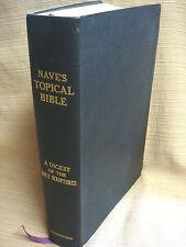 1962 Nave's Topical Bible - Thumb-Index - Place Marker Ribbon - EUC