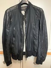 Mens CHEVIGNON Unlimited Genuine Leather Jacket & fabric Black Small