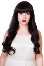 Curly Bangs Straight Wigs for Women
