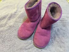 Uggs Girls Shoes Boots Purple Size 3 EEUC