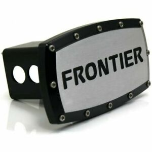 """Nissan Frontier 2"""" Tow Hitch Cover Plug Engraved Billet Black Powder Coated"""