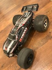 Traxxas E-Revo Brushless RTR RC 4WD Monster Truck   Parts or repair untested