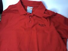 Pepe Jeans London Mens Red Large Polo Shirt Cotton