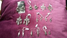JOB LOT 7 PIECES OF GOTHIC STEAMPUNK PUNK ROCK CHIC EMO  SILVER PLATED NECKLACES