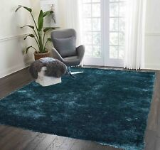 Teal Dark Green Thick Soft Touch 8x10 Living Room Shag Anti Shed Shaggy Area Rug