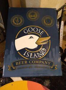Goose Island Beer Company Alcohol Chicago Award Winning Man Cave Tin Sign