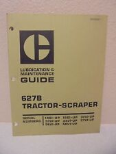 Caterpillar  627B Tractor-Scraper lubrication & Maintenance Guide