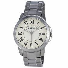 Fossil Grant FS4734 Stainless Steel White Dial Quartz Analog Men's Watch