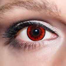 Rote Kontaktlinsen farbige Parasit Motivlinsen Red Parasite Eyes Contacts;K520