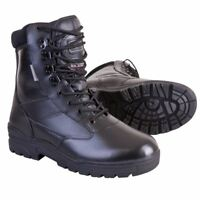 Kombat Army Cadet Black Leather Patrol Boots Tactical Hiking Work Combat Shoes