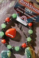 LIBRA-Lucky Birthstone & Talisman 'Power Bracelet' Plus free book & Bookmark