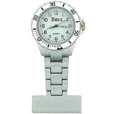 Boxx Silver Rotating Bezel Nurses Fob Watch F043