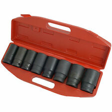 Professional 8 Piece 3/4 Inch Drive Deep Metric Impact Sockets Set 24mm - 38mm