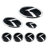 7pcs Grille Trunk 4 Wheel Rim 3D K Speed Emblem Badge For Kia K5 Optima 11-15