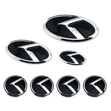 7pcs Grille Trunk 4 Wheel Rim 3D K Speed Emblem Badge For Kia K5 Optima 11-15