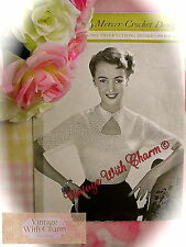 Vintage Crochet Pattern Lady's Triangular Neckline Blouse JUST £2.49 + Free P&P