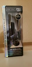 NEW Conair Infiniti Pro Black 2-in-1 Styler Straightner Curling Iron