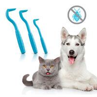 3 HOOK- Pet Tick Remover Removal Tool Set Cat Dog Rabbit Human UK Tick Treatment