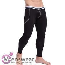 Herren Longpant Funktionsunterwäsche Lange Unterhose Thermo Schwarz Größe M