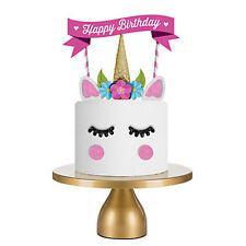Cake Topper Cute Unicorn Birthday Banner Set Birthday Party Cake Decoration