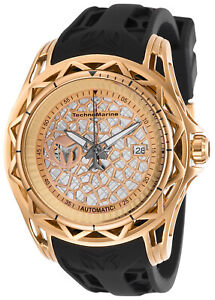 TechnoMarine TM-318015 TechnoCell NEW 47mm Automatic Skeleton CaseBack CLOSE OUT