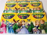 Disney Sofia The First, Princess Sofia Crayon Lot, 9 Packs New! Coloring!