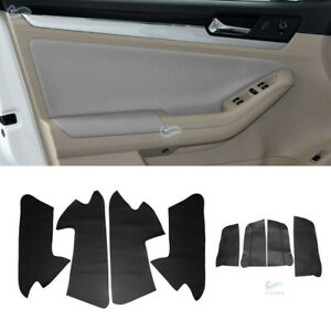 4x RHD Door Panel Armrest Inserts Card Leather Cover for VW Jetta MK6 2015-2018