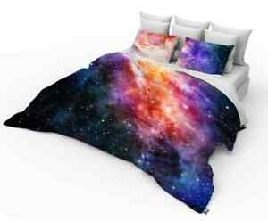 3D Single, Double, King size Galaxy Duvet cover bedding set Space Stars Univers