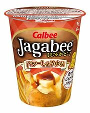 Calbee Jagabee Butter Soy sauce 40g x 12 cup Free Shipping w/Tracking# New Japan
