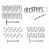 10 Aluminium Biscuit Fondant Cutter Cake Bread Mold Cookies Mould W/Press Stamp