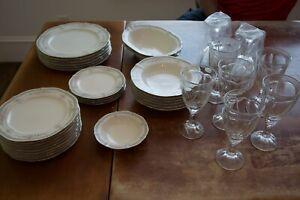 Noritake Ivory China 7293 Rothschild (Lot of Dinner & Salad Plates, Bowls, Etc)