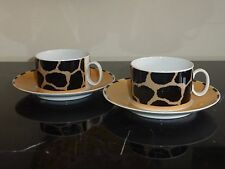 2 THOMAS CHINA AFRICANA CUPS & SAUCERS - DISCONTINUED 1995