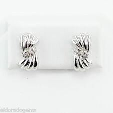 14k White Gold 0.25 Ct Diamond Stud Earrings
