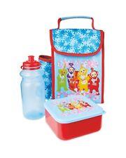 Teletubbies Kids School Lunch Bag Sandwich Box Water Bottle, Set,