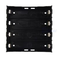 Black 18650 Li-ion Battery Storage Plastic Clip Holder Case Box 8 Pin Contact
