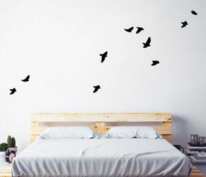 Flock of Birds (Set of 10) Wall Sticker Nursery Kids Home  MS395VC