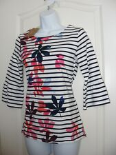 WOMEN'S USA 2 UK 6 JOULES CLOTHING PULLOVER SWEATER FRANCESAP PRINT TOP BLOUSE