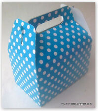 Blue White Polka Party Supplies Boxes Birthday Decoration Gable Loots x12 Dots *