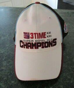 NWT New York Giants Super Bowl XLII 42 NFL 2.03.08 Champions Hat Adjustable