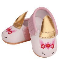 43cm Baby Dolls Shoes Pink Cute Unicorn Shoes Fit 18Inch Girl Doll Accessory