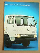 catalogue Camion FIAT OM Les nouveaux UNIC IVECO brochure prospectus Truck LKW