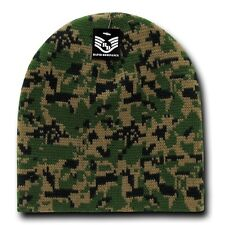 Army Woodland Knit Skull Hunting Camo Camouflage Ski Winter Beanie Hat Hats Cap