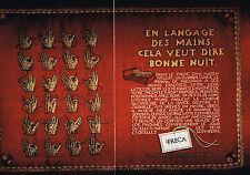 PUBLICITE  ADVERTISING  1998   TRECA  ( 2 pages)  matelas cousu main