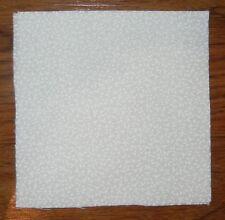 40 white on white 4x4 fabric squares quilt blocks