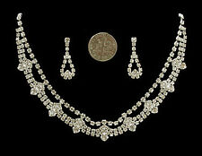 3b Contemporary SP Bridal Genuine Premium Austrian Clear Crystal Necklace Set