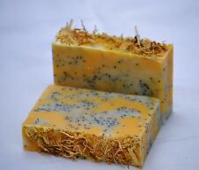 Handmade Annatto & Yarrow Soap-Natural Herbal Soap-Chia Seed Oil-Rice Bran Oil